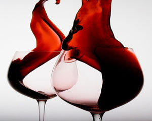 miscellaneous red wine and glasses-300w
